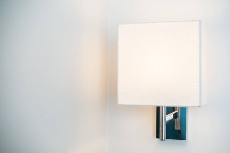 sconce: Light lamp decoration interior of room Stock Photo