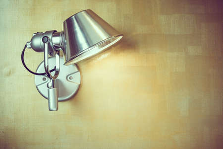 sconce: Light lamp on wall decoration interior of room - Vintage Filter