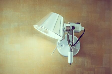 wall sconce: Light lamp on wall decoration interior of room - Vintage Filter