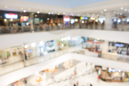 Abstract blur shopping mall interior and retail store for background