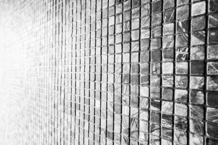 light slate gray: Abstract black stone tile wall textures for background Stock Photo