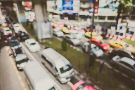Abstract blur traffic jam in bangkok city at Thailand - Filter effect