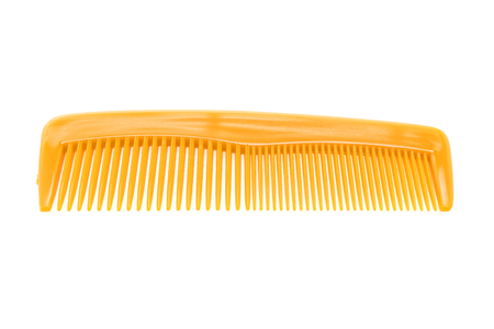 plastic comb: Hairbursh or hair comb isolated on white background