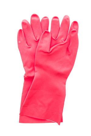 rubber glove: Rubber glove isolated on white background