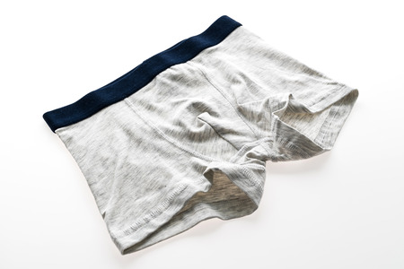 Underwear or Underpants and clothing for men isolated on white background Stock Photo