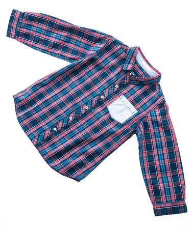 Tartan or Plaid shirt isolated on white background