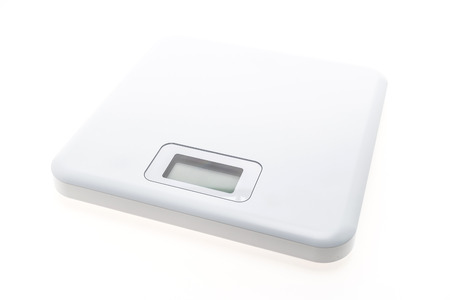 kilograms: Digital weight sclae isolated on white background