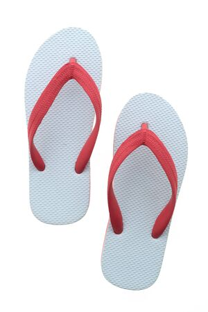 to flop: Flip flop OR slipper isolated on white background