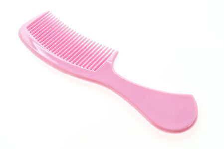 comb: Plastic hair comb isolated on white background