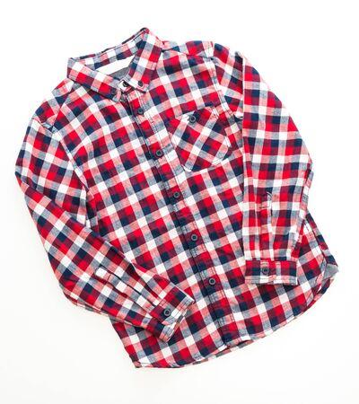 Men Shirt fashion for clothing isolated on white background Stock Photo