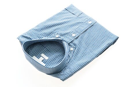 white sleeve: Men Shirt fashion for clothing isolated on white background Stock Photo