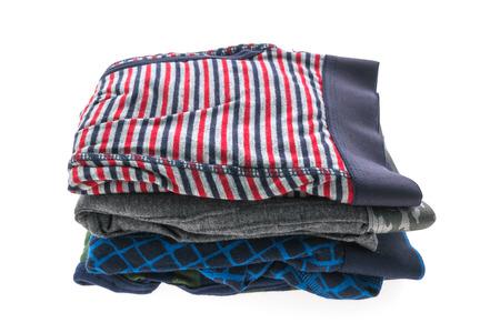 Man short underwear for clothing isolated on white background Stock Photo