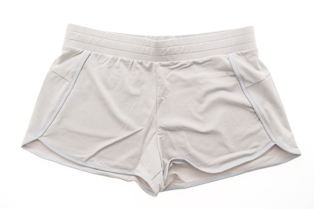 Sport short pants for clothing isolated on white background