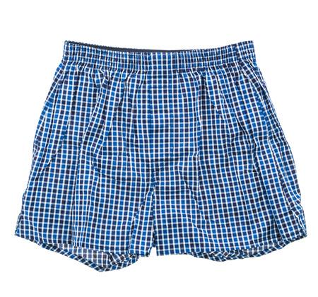 Short underwear and boxer pant for men isolated on white background Reklamní fotografie
