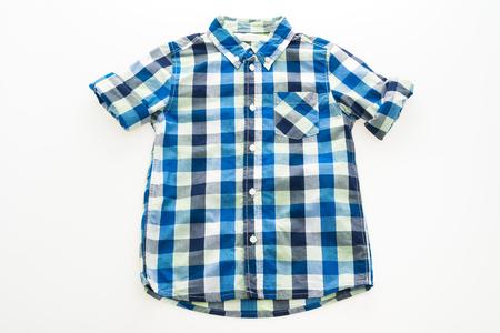 Fashion shirt for clothing isolated on white background Stock Photo