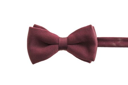 Beautiful bow and tie accessory for men isolated on white background