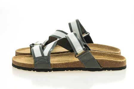 Beautiful men fashion sandal or shoes isolated on white background Stock Photo