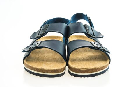 cc359ce24f73c8 Beautiful men fashion sandal or shoes isolated on white background Stock  Photo