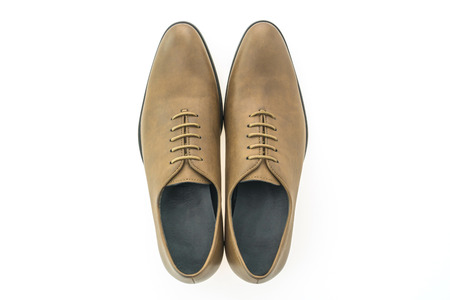 brogues: Beautiful elegance and luxury leather brown men shoes isolated on white background