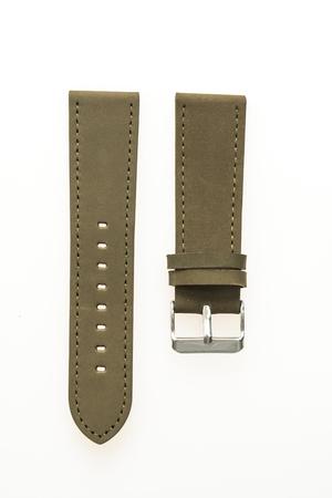 Bracelet en cuir isolé sur fond blanc
