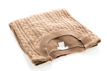 Fashion Sweaters clothing for winter season isolated on white background Stock Photo