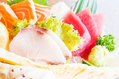 Raw and fresh sashimi set - Japan food style