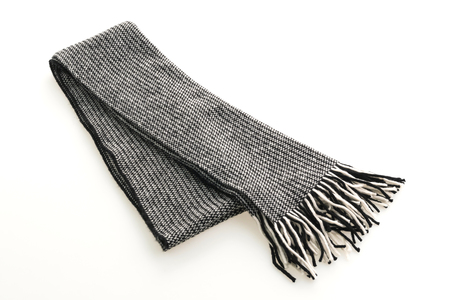 Fashion gray scarf for clothing isolated on white background