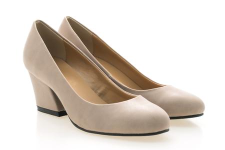 Sapatos de mulher isolado no fundo branco Foto de archivo - 73793160