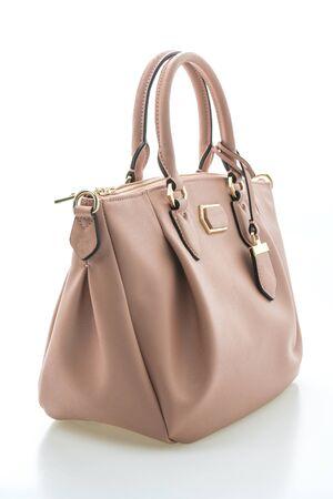 Luxury woman handbag isolated on white background