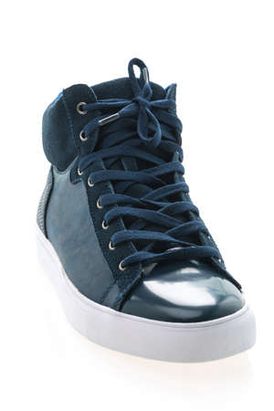 mens fashion: Men shoes isolated on white background