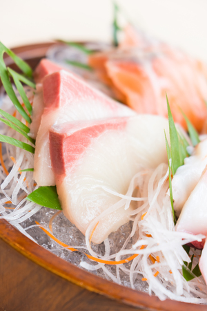 Raw fresh sashimi fish - Japanese food style Stock Photo