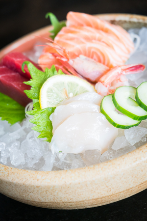 Raw fresh sashimi - Japanese food style