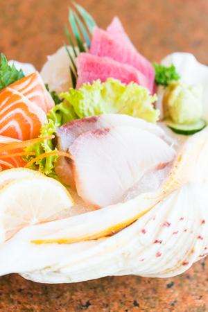 Raw und frische Sashimi Set - Japan Essen Stil Standard-Bild