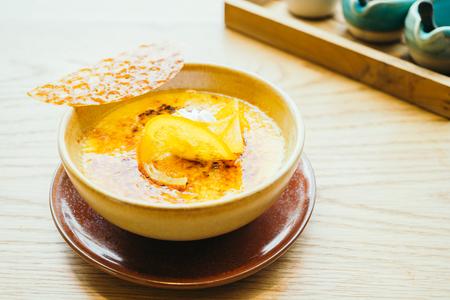 crema: Orange cream catalana sweet dessert - Color Filter Processing