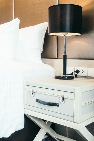 furniture design: Pillow on bed decoration room interior