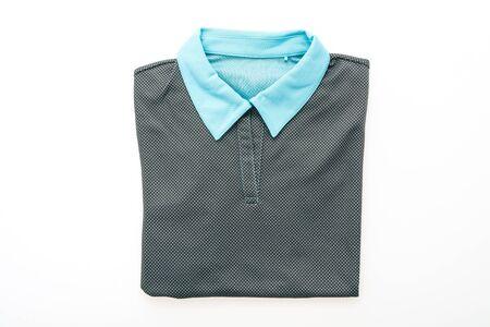 clothing store: Fashion T-shirt or Polo isolated on white background Stock Photo
