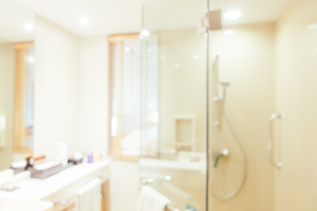 modern bathroom: Abstract blur and defocused bathroom and toilet interior for background