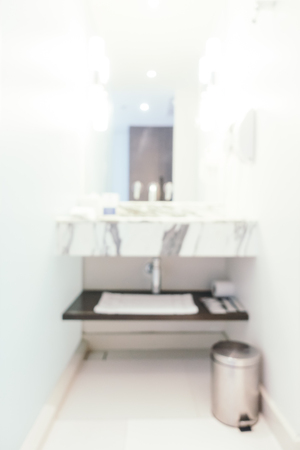 luxury room: Abstract blur and defocused toilet room interior for background
