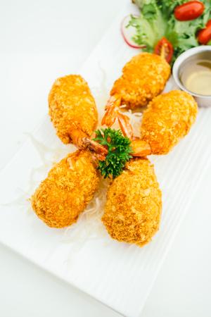 Deep fried shrimp or prawn cake with sweet saue - Thai food style Lizenzfreie Bilder