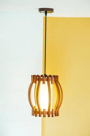 chandelier background: Ceilling light lamp decoration interior of room