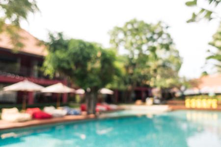 Abstract blur swimming pool in hotel resort for background Lizenzfreie Bilder