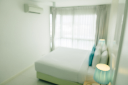 Abstract blur and defocused bedroom interior and decoration for background