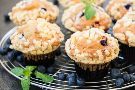 Sweet dessert with blueberry muffin - Filter Processing