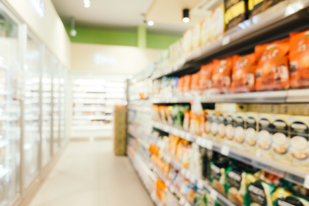 Abstract blur and defocused supermarket retails and shopping for background 스톡 콘텐츠