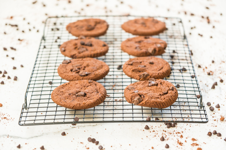 Sweet dessert with Chocolate chip cookies