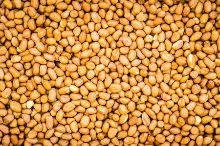 Peanuts textures for background - Healthy food concept Standard-Bild