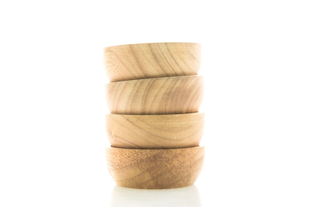 Wood bowl isolated on white background