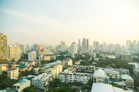 Bangkok city skyline in Thailand