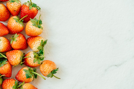Strawberry fruit textures with copy space Standard-Bild
