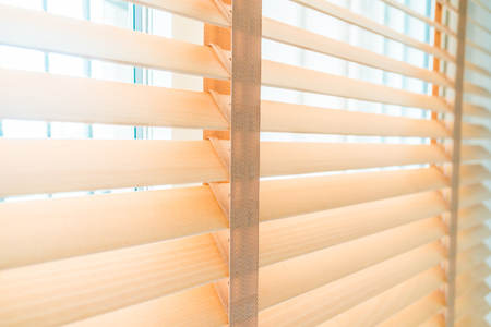 Blind and window decoration interior Stockfoto